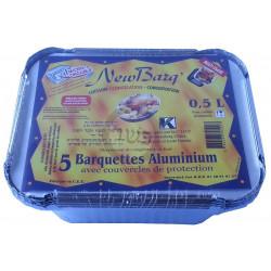 Barquette aluminium X5  0.5 L