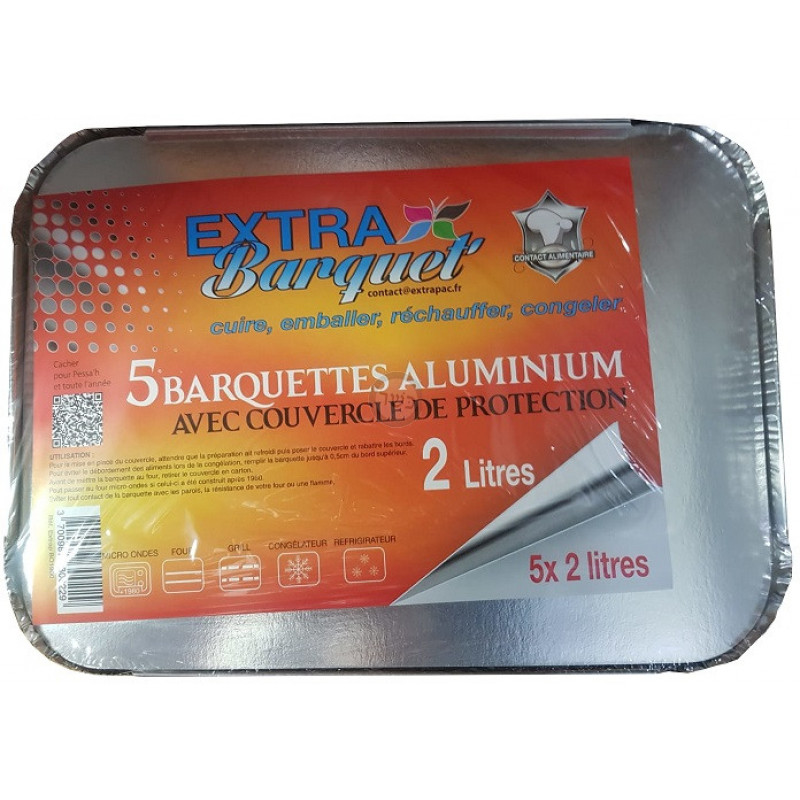Barquettes aluminium X5  2L