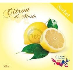 Sorbet citron jaune 500ml