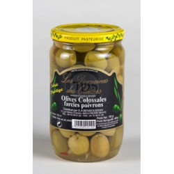 Olives Colossales farcies Poivrons- 720g- KLP -18