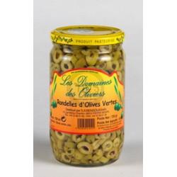 Rondelles d'olives vertes 720g--18